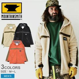 MOUNTAIN SMITH マウンテンスミス ジャケット ボア フリース ジップ ジャケット BOA FLEECE ZIP JACKET MS0-000-190105 メンズ アウター シンプル カジュアル ブルゾン アウトドア レジャー キャンプ ブランド ボア もこもこ 上着 登山 保温 防寒 黒