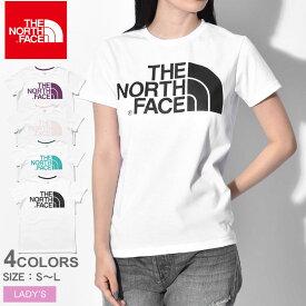【メール便可】 THE NORTH FACE ザ ノースフェイス 半袖Tシャツ ショートスリーブ シンプル ロゴ ティー S/S SIMPLE LOGO TEE NTW31956 レディース ノースフェース トップス ウェア シンプル カジュアル アウトドア ティーシャツ ビッグロゴ ブランド 白 半袖