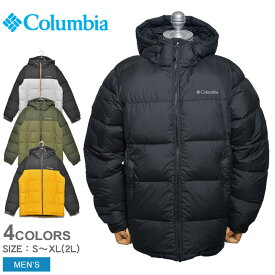 COLUMBIA コロンビア ジャケット パイクレークフーデッドジャケット PIKE LAKE HOODED JACKET WE0020 メンズ アウター 上着 ダウン アウトドア シンプル カジュアル 保温 キャンプ 通勤 通学 タウンユース カーキ 黒 撥水 はっ水