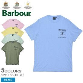 バブアー 半袖Tシャツ メンズ クルーネック プリント Tシャツ BARBOUR CREW NECK PRINT TEE MTS0662 tシャツ トップス 半袖 シンプル クラシカル バーバー バーブァー おしゃれ ブルー 青 ピンク イエロー