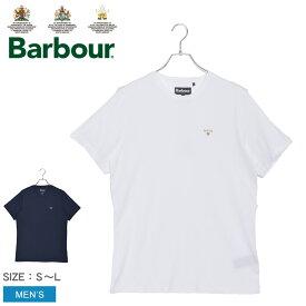 バブアー 半袖シャツ メンズ ソルティア Tシャツ BARBOUR SALTIRE TEE MTS0683 トップス 半袖 おしゃれ 人気 シンプル クラシック クラシカル 大人 バーブァー ワンポイント ホワイト 白 ネイビー