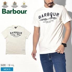 【メール便可】 BARBOUR バブアー 半袖Tシャツ ホワイト ブライス Tシャツ BRESSAY TEE MTS0532 WH32 メンズ バーブァー ウェア ブランド トップス カジュアル タウンユース ベーシック クラシック おしゃれ 白