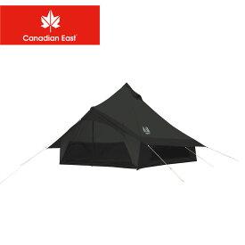カナディアンイースト テント モノポール+1フレーム型テント グロッケ12 CANADIAN EAST CETO1004 キャンプ レジャー アウトドア ブランド おしゃれ オールシーズン 通気性 5人 6人 ブラック 黒