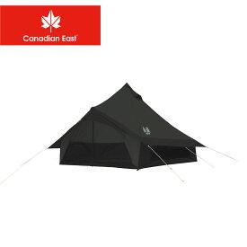 カナディアンイースト テント モノポール+1フレーム型テント グロッケ8 CANADIAN EAST CETO1003 キャンプ レジャー アウトドア ブランド おしゃれ オールシーズン 快適 コンパクト 4人 ブラック 黒