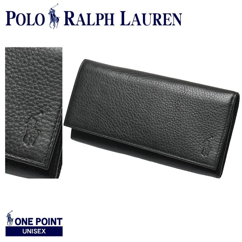 送料無料 POLO RALPH LAUREN ポロ ラルフローレン 長財布 ブラックYEN ジッパー ウォレット YEN ZIPPERED WALLET405526201 002 メンズ レディース