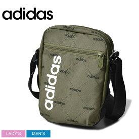 adidas アディダス ショルダーバッグ カーキ リニアオーガナイザーG GDI93 メンズ レディース ブランド アウトドア スポーツ スポーティ カバン 軽量 鞄 カジュアル