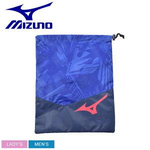 【メール便可】 ミズノ 靴袋 メンズ レディース シューズ袋 MIZUNO 33JM0513 靴 収納 ロゴ コラボ 日本 スポーツ ブランド デザイン スポーティ シンプル 部活 鞄 ブルー ネイビー