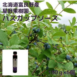北海道 富良野 ハスカップ ヨーグルト ソース 180g×6個 星野果樹園 手作り フルーツソース トッピング ビートオリゴ オリゴ糖 お取り寄せ グルメ 瓶