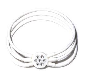 電磁波対策 芸能人・アスリート多数愛用[ZAAP/ザップ]Bracelet ブレスレット WHITE ホワイト