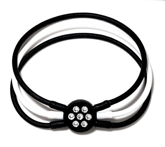 電磁波防止【医療機器シリコンブレスレット】[ZAAP/ザップ]Bracelet ブレスレット BLACK&WHITE/BLACK ブラック&ホワイト/ブラック