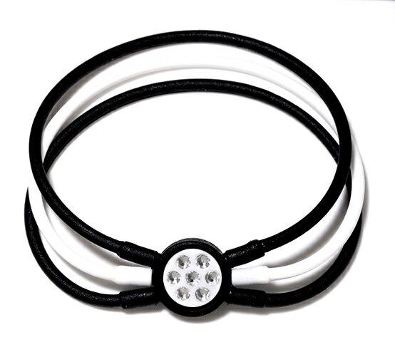 電磁波防止【医療機器シリコンブレスレット】[ZAAP/ザップ]Bracelet ブレスレット BLACK&WHITE/WHITE ブラック&ホワイト/ホワイト