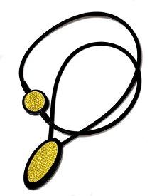 電磁波対策 芸能人・アスリート多数愛用[ZAAP/ザップ]PREMIUMNECKLACE-S プレミアムネックレス-S BLACK&YELLOW ブラック&イエロー