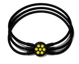 電磁波対策 芸能人・アスリート多数愛用[ZAAP/ザップ]Bracelet ブレスレット BLACK ブラック・イエロースワロ