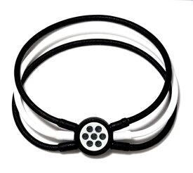 電磁波対策 芸能人・アスリート多数愛用[ZAAP/ザップ]Bracelet ブレスレット BLACK&WHITE/BLACK ブラック&ホワイト/ブラックスワロ