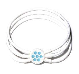 電磁波対策 芸能人・アスリート多数愛用[ZAAP/ザップ]Bracelet ブレスレット WHITE ホワイト・サックススワロ
