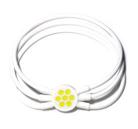 電磁波対策 芸能人・アスリート多数愛用[ZAAP/ザップ]Bracelet ブレスレット WHITE ホワイト・イエロースワロ