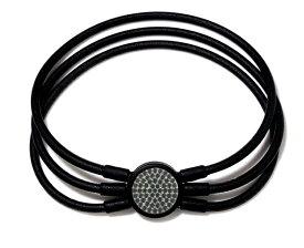 電磁波対策 芸能人・アスリート多数愛用[ZAAP/ザップ]BRACELET-S ブレスレット-S BLACKスワロ