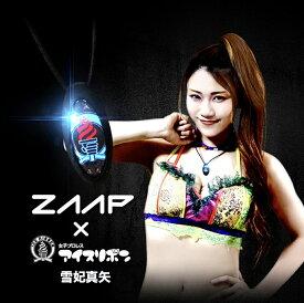 電磁波対策 芸能人・アスリート多数愛用[ZAAP/ザップ]女子プロレス団体ICE_RIBBONモデルネックレス/BLACK