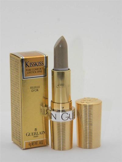 ゲラン キスキス ピュア コンフォート リップスティック フォイユ ドール (ゴールドリーフ)【Guerlain KissKiss Pure Comfort Lipstick Feuille D'or (Gold Leaf) New With Box】