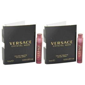 ヴェルサーチ クリスタル ノワール オードトワレ お試しチューブサンプル 2個セット 2x1ml【Versace Crystal Noir Eau De Toilette EDT Vial Sample Spray 2x1ml (Lot of 2)】