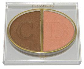 クリスチャン ディオール デュオ クルール カラー アイシャドウ 645 ディオールランド (テスター 外箱なし)【Christian Dior Duo 2 Couleurs Color Eyeshadow 645 Diorland Tester】