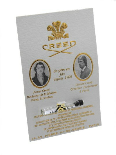 クリード ラブ イン ブラック お試しチューブサンプル 2.5ml【Creed Love In Black Vial Sample 2.5ml New With Card】