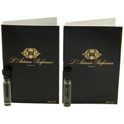ラルチザン パフューム バチュカーダ オードトワレ お試しチューブサンプル 2個セット 2x1ml【L'Artisan Parfumeur Batucada EDT Vial Sample 2x1ml With Card】