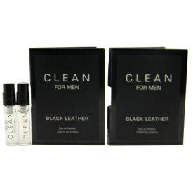 クリーン ブラック レザー フォー メン オードトワレ お試しチューブサンプル 2個セット 2x1.5ml【Clean Black Leather EDT Vial Sample 2x1.5ml】
