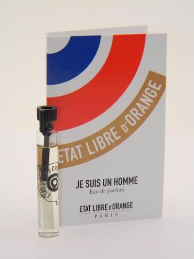 エタ リーヴル ド ランジュ ジュ スィ アン オム オードパルファン お試しチューブサンプル 1.5ml【Etat Libre D'Orange Je Suis Un Homme EDP Vial Sample 1.5ml】