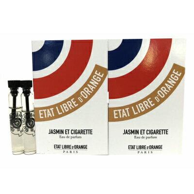 エタ リーヴル ド ランジュ ジャスミン エ シガレット オードパルファン お試しチューブサンプル 2個セット 2x1.5ml【Etat Libre D'Orange Jasmin Et Cigarette EDP Vial Sample 2x1.5ml】