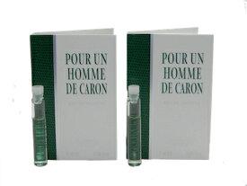プール アン オム ド キャロン オードトワレ お試しチューブサンプル 2個セット 2x2ml【Pour Un Homme De Caron EDT Vial Sample 2ml (Lot of 2)】