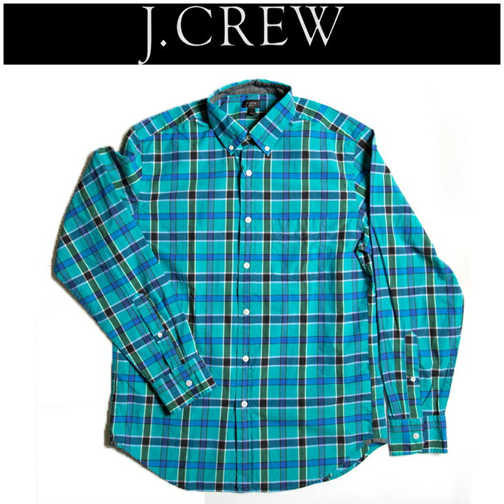 ジェイクルー【J.CREW】  タータンチェックシャツ(グリーン) シンプル ハイクオリティー アメカジ ヴィンテージ コラボ RRL 定番 注目ブランド