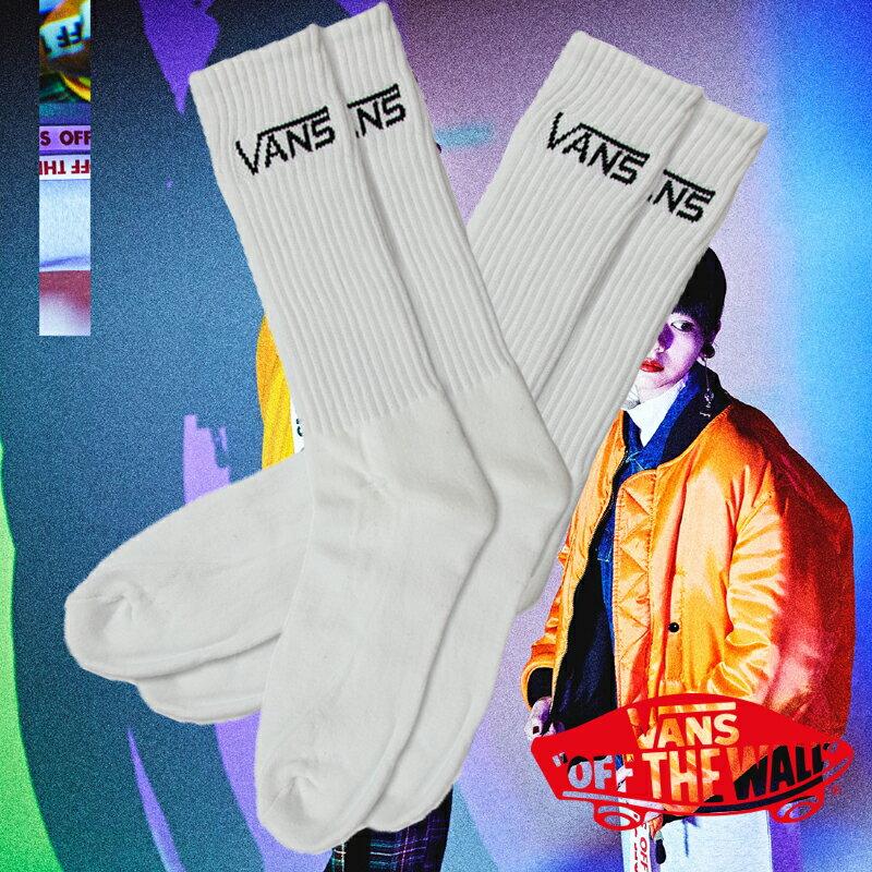靴下 くつした くつ下 ソックス ミドル丈 ミドルソックス クルー丈 おしゃれ プレゼント クルーソックス VANS CREW SOX(VANS クルーソックス 2枚組)