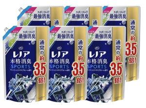 レノア 本格消臭 柔軟剤 スポーツ フレッシュシトラスブルーの香り 詰替 超特大 1390ml × 6袋セット