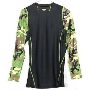 アメリカ軍 タクティカルトレーニングアンダーシャツ 【 長袖/Lサイズ 】 Y M615004 ウッドランド 【 レプリカ 】