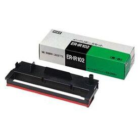 マックス タイムレコーダー用インクリボン 黒・赤 ER-IR102 1個