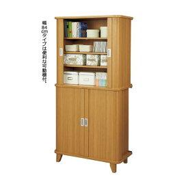 組立簡単ジャバラ収納庫(チェスト) 【1: 幅84cm】 可動式棚板6枚付き