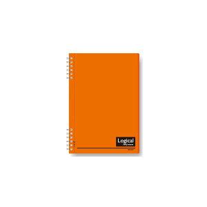 (業務用セット)ナカバヤシ スイング・ロジカルノート/Wリング A5 A罫 PP表紙 オレンジ NW-A507-OR【×10セット】