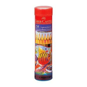 (まとめ) ファーバーカステル水彩色鉛筆 丸缶 TFC-115924【×2セット】
