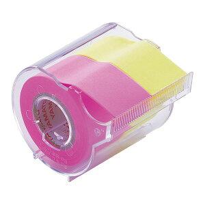 (まとめ) ヤマト メモック ロールテープ カッター付 25mm幅 ローズ&レモン NORK-25CH-6A 1個 【×15セット】