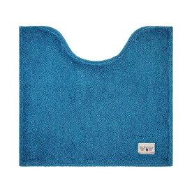 銀イオン加工 トイレマット/トイレ用品 【ターコイズブルー】 55×60cm 洗える 抗菌・防臭・消臭効果 『カラーモード プレミアム』