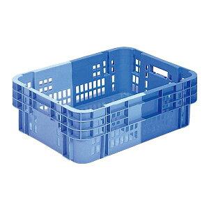 (まとめ)三甲(サンコー) SNコンテナ/2色コンテナボックス 【Cタイプ】 底面ベタ #40 ブルー×ライトブルー 【×5セット】【代引不可】
