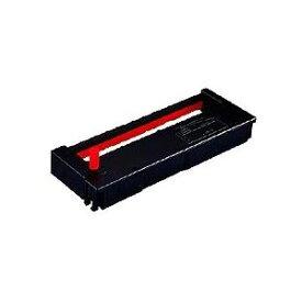 (まとめ) セイコープレシジョン タイムレコーダ用インクリボン 黒・赤 QR-12055D 1個 【×4セット】