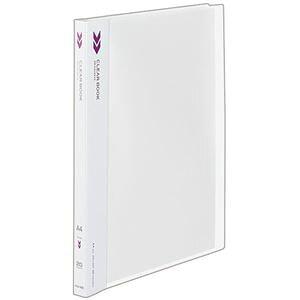 (まとめ) コクヨ クリヤーブック(クリアブック)(K2)固定式 A4タテ 20ポケット 背幅18mm 中紙なし 透明 K2ラ-K20T 1冊 【×20セット】
