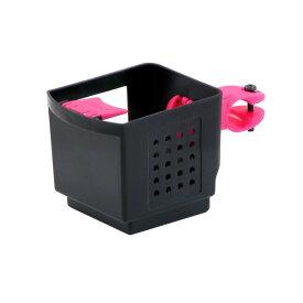 ドリンクホルダー 【OGK】 PBH-003 ブラック(黒)&ピンク 〔自転車パーツ/アクセサリー〕【代引不可】
