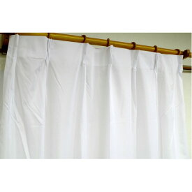 外から見えにくいレースカーテン 目隠し / 2枚組 100×133cm / ホワイト 遮熱 遮像 断熱 UVカット90%以上 『ローレル』 九装