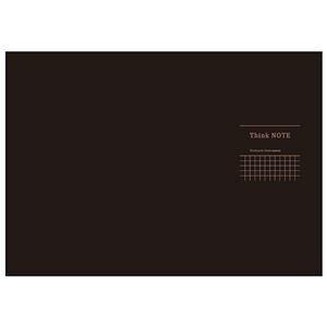 (まとめ) 高橋政史xNakabayashi ロジカルシンクノート A3・ヨコ/5mm方眼ブラック・グレー罫/40枚 RP-A301-DN【×10セット】