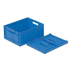 三甲(サンコー) F-Box(折りたたみコンテナボックス/オリコン) 内倒れ方式 112 無地 ブルー(青)【代引不可】