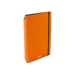 (まとめ) ナカバヤシ 折りたたみクリップボード A4判タテ型(二つ折りタイプ) オレンジ 【×5セット】