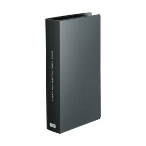 (まとめ)TANOSEE 名刺ホルダー 固定式コンパクト 240名用 ヨコ入れ ブラック 1冊 【×20セット】